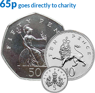 65p direct to the charity