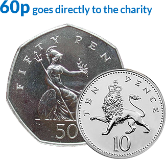 60p direct to the charity